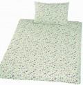 Obliečky bavlna do postieľky - Méďa krmítko zelená 1x 90 / 130 , 1x 45 / 60