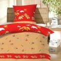 Obliečky bavlna do postieľky - Korytnačky červené 1x 90 / 130 , 1x 60 / 45