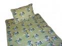 Obliečky mikrovlákno do postieľky - Opičky zelené 1x 90 / 135 , 1x 60 / 40