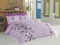 Francúzske obliečky bavlna - Story lila 1x 240 / 200 , 2x 90 / 70