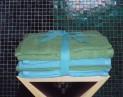 Froté utierky - 8 dielna sada zelená , tyrkysová