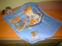 Detská deka - Medvedí piknik modrý