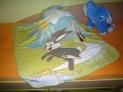 Detská deka - Bežiaci zajac zelený