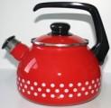 Konvice smalt na čaj 20 cm červený puntík 2060730