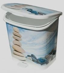 Fotogalerie: Koš odpadkový koupelnový 12 l nášlapný potisk 1880200