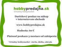 Fotogalerie: Darčekový šek v hodnotě 60 EUR