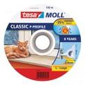Samolepiace okenné a dverové tesnenie guma TESA profil P 100 mx 9 mm x 5,5 cm biela 55703-100