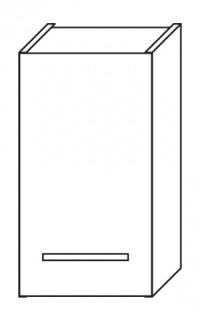 Fotogalerie: Závesná skrinka Focus horná 30 cm L / P Olsen Spa orech dijon