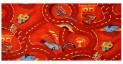 Detský koberec Cars červený šírka 4 m dĺžka podľa priania s obšitím