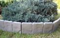 Obrubník zahradní 2,5 m plastový kámen hnědý 2780028