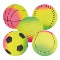 Sortiment neonových míčů, mechová guma 6cm TRIXIE