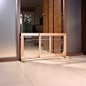 Posuvná bariéra pro štěňata a malé psy 63-108x50x31 cm