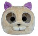 Plyšová hlava LUZIE pelíšek s hračkou 40x38 cm béžová/fialov