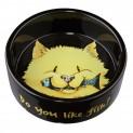 Keramická miska žlutá kočka s rybou 300ml/12cm