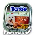 MONGE FRESH - paštika a kousky s hovězím 100 g pro psy