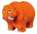 :Latexový mamut oranžový, plněný 21 cm - DOPRODEJ
