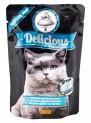 TOMI Delicious kapsička jehněčí,drůbeží,mrkev pro kočky 100g