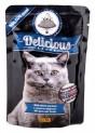 TOMI Delicious kapsička s lososem a pstruhem pro kočky 100 g