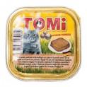 TOMI alu paštika drůbeží a játra pro kočky 100 g