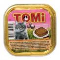 TOMI alu paštika telecí a drůbeží pro kočky 100 g