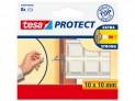 Gumový nárazník pre kľučky dverí, štvorcový, biely, 10mm x 10mm, balenie 8ks Tesa 57899-00000-00