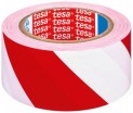 Vyznačovacie páska PVC pre trvalé značenie, červeno-biele šrafovanie, 33m x 50mm Tesa 60760-00092-01