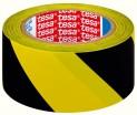 Vyznačovacie páska PVC pre trvalé značenie, žlto-čierne šrafovanie, 33m x 50mm Tesa 60760-00093-01