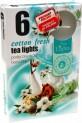 Svíčka čajová 6 ks-cotton fresh 3950356