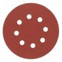 Kotouč brusný výsek 125 mm / P100 na suchý zip s otvory - 5 ks 110174