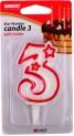 Číslo dortové 3-svíčka 7x4,5 cm 4052195