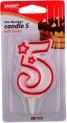 Číslo dortové 5-svíčka 7x4,5 cm 4052197