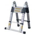 Rebrík teleskopický ALU s kĺbom 0,88-1,9-3,8m 2x6 priečok nosnosť 150kg