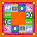 Kusový koberec Abeceda na hranie 100 x 100 cm