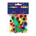 dpCraft Pohyblivé oči farbené neón 75ks, (KSOC-008)