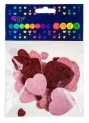 dpCraft Penové samolepky brokátová - srdce 30ks, (KSPI-062)