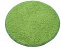 Okrúhly koberec Color shaggy zelený priemer 80 cm