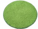 Okrúhly koberec Color shaggy zelený priemer 100 cm