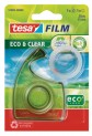 tesafilm EcoaClear, číra kancelárska páska s ručným odvíjačom, priehľadná, 10m x 15mm 57969-00000-00