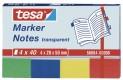 tesa Záložky / Poznámkové bločky Transparent, 4x 40ks, 20mm x 50mm 56694-00000-01