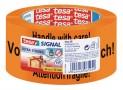 tesa Baliaca výstražná páska PVC, potlač: piktogram krehké, oranžová, 66m x 50mm 58132-00000-00