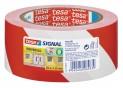 tesa Vyznačovacia páska PP pre dočasné značenie, červeno-biele šrafovanie, 66m x 50mm 58134-00000-00