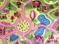 Detský koberec Sladké mesto priemer 100 cm