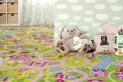 Detský koberec Sladké mesto šírka 4 m dĺžka podľa želania s obšitím