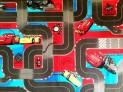 Detský koberec Cars 3 šírka 4 m dĺžka podľa želania s obšitím
