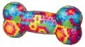 Házecí různobarev. kost se zvukem,termoplast.guma (TPR)17 cm