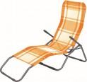 Lehátko plážové oranžová kostka 4052607