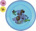 Talíř dětský 21x2 cm mělký plast dekor 491439